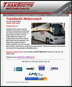 website transouth motorcoach
